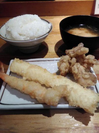 天ぷら定食 まきの 難波千日前店